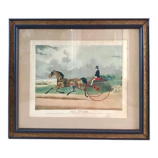 """""""Lord William"""" Trotting Horse 1845 Aquatint For Sale"""