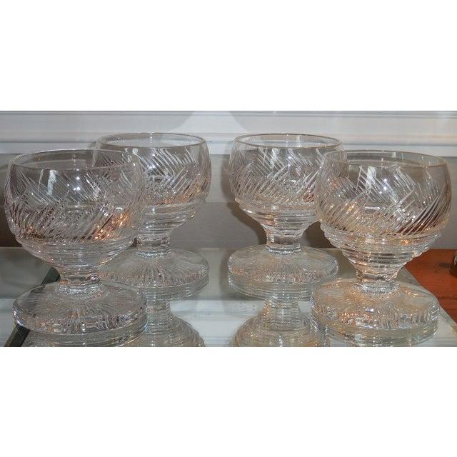 Elegant Antique Irish Cut Crystal Goblets - Set of 4 - Image 2 of 2
