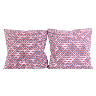 Muriel Brandolini Hand-Blocked Pillows - A Pair For Sale