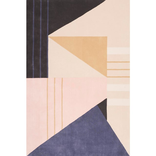 Early 21st Century Contemporary Schumacher Patterson Flynn Martin Metric Hand-Tufted Wool Rug- 6′ × 9′ For Sale - Image 5 of 5