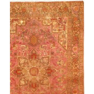 """Pasargad N Y Genuine Fine Persian Tabriz Heriz Design Silk & Wool Pile Rug - 3'4"""" X 4'10"""" For Sale"""