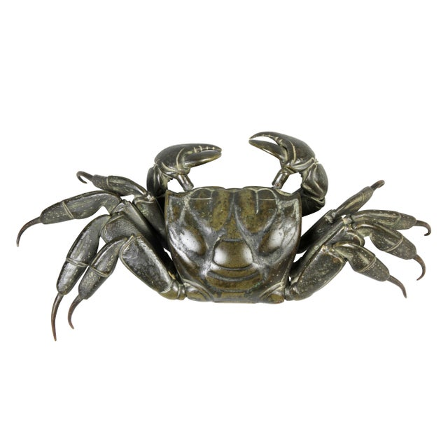 Japanese Japanese Meiji Articulated Bronze Crab For Sale - Image 3 of 10