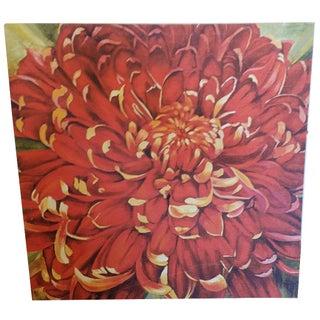 Dhalia Painting on Canvas