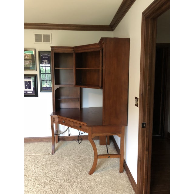 Sligh-Lowry Furniture Co. Vintage Sligh-Lowry Furniture Co. Corner Desk Unit For Sale - Image 4 of 5