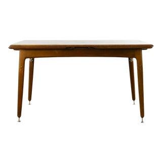 1960s Mid-Century Danish Teak Draw-Leaf Dining Table For Sale