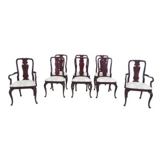 Kindel Queen Anne Dining Room Chairs - Set of 8 For Sale