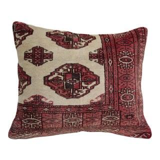 "Turkoman Turkish Carpet Pillow - 19"" x 23"" For Sale"