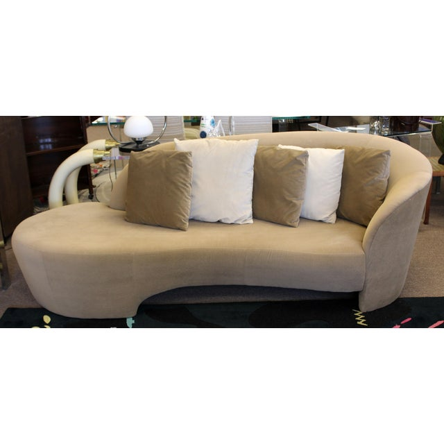 Contemporary 1980s Vintage Contemporary Modern Kagan for Weiman Preview Serpentine Sculptural Sofa Chaise For Sale - Image 3 of 9
