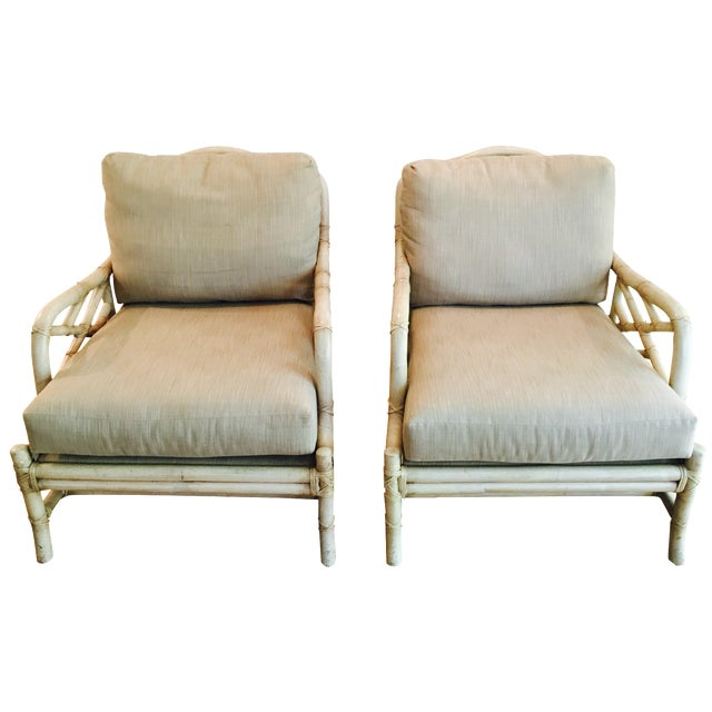 Ficks Reed Lounge Chairs - A Pair - Image 1 of 8