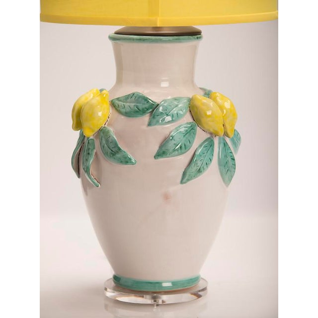 Hand Made Glazed Terra Cotta Vase by Solimene, Italy Custom Mounted as a Lamp For Sale In Houston - Image 6 of 8