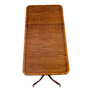 Mahogany Bookmatch Veneer Dining Table For Sale