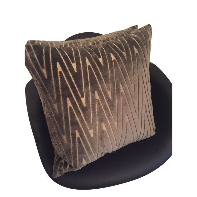 Chevron Throw Pillows - A Pair - Image 5 of 6