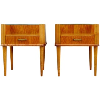 1940s Swedish Axel Larsson End Tables - a Pair For Sale
