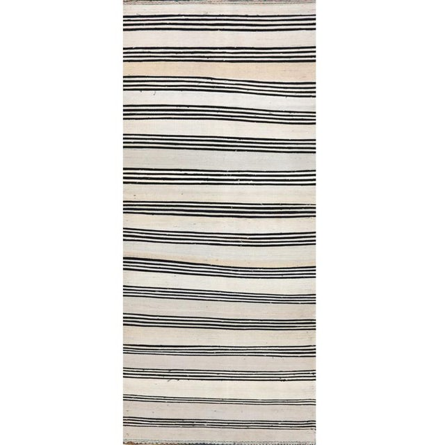 """Textile Traditional Kilim Tribal Area Rug-2'7""""x11'1"""" For Sale - Image 7 of 7"""