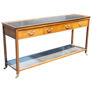 Regency Style Marble-Top Console Table For Sale
