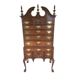 Henkel Harris Chippendale Style Ball & Claw Highboy For Sale