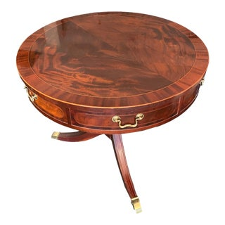 Baker Furniture Duncan Phyfe Style Drum Table For Sale