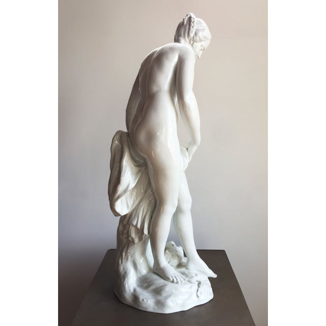 19th C. Falconet Porcelain 'Bather' Sculpture - Image 4 of 10