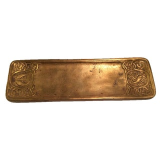 Tiffany Studios Zodiac Pen Tray For Sale