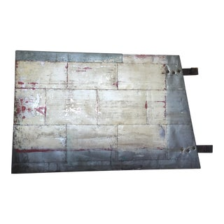 Rustic Industrial Barn Door Headboard For Sale