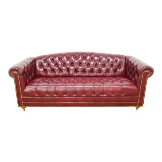 1970s Vintage Chesterfield Tufted Leather Sofa For Sale
