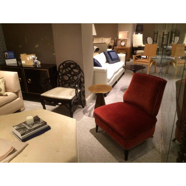 Truex American Furniture Red '21' Slipper Chair - Image 4 of 4