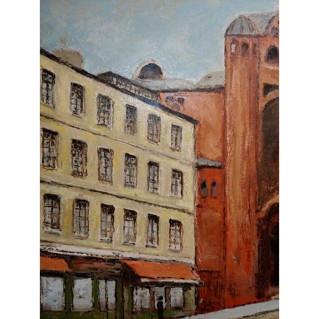 1970s Louis Peyrat -Paris Street Scene - Oil Painting For Sale - Image 5 of 11