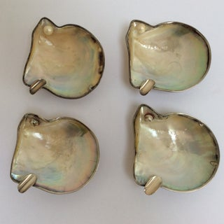 Sterling Silver Sea Shell Ashtrays - Set of 4 Preview