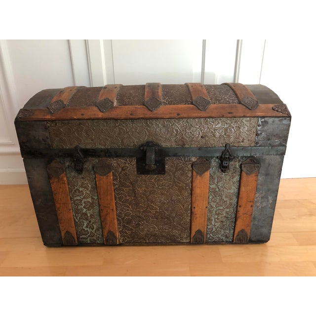 Late 1800s Irish Dome Top Carriage Trunk Chest For Sale - Image 13 of 13
