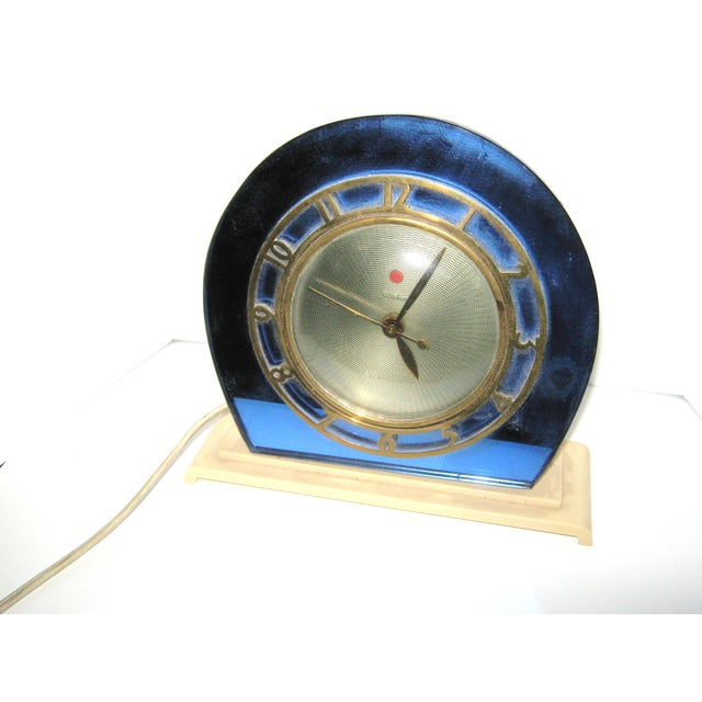 1930s Blue Mirror Telectron Electric Clock - Image 2 of 7