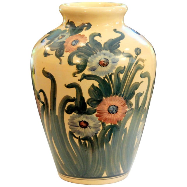 Big Rrp Co Robinson Ransbottom Roseville Garden Urn Pottery Porch Floor Vase For Sale - Image 11 of 11