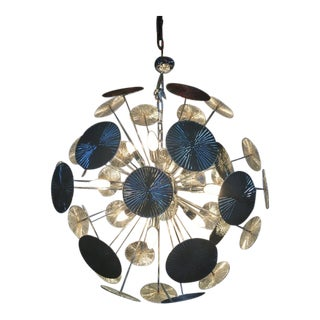 Huge Chandelier Sputnik Not Murano Glass Venini Style For Sale