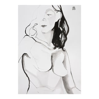 Unspoken, Ink Drawing by Adria Becker For Sale