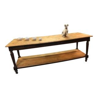 Large 19th Century Oak Draper's Table