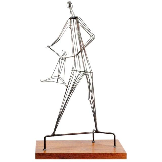 Kinetic Wrought Iron Sculpture by Robert Kuntz - Image 1 of 5