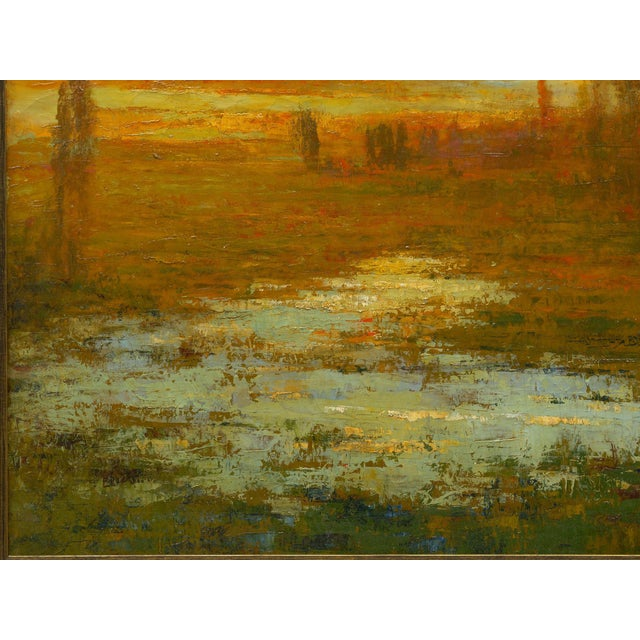 "1910s ""September Harmony"" (1910) Tonalist Painting Oil on Canvas by Karl Emil Termöhlen For Sale - Image 5 of 13"