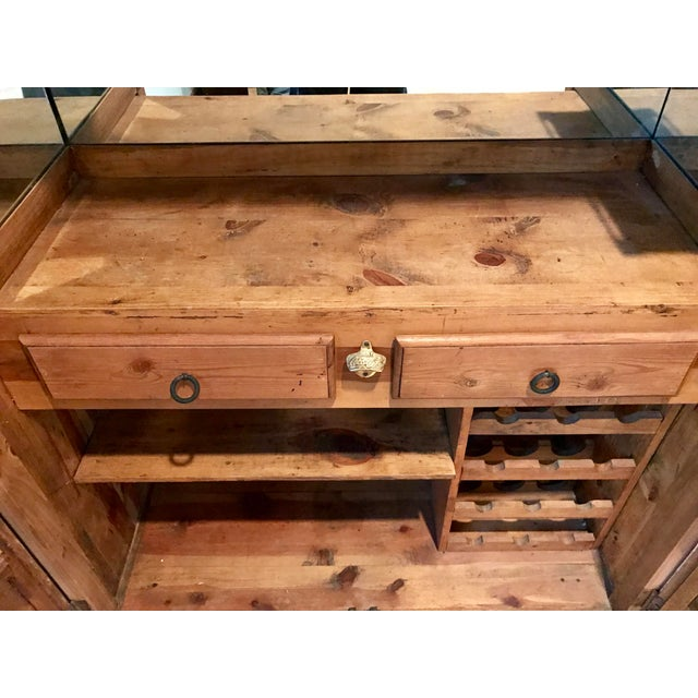 Customized Mexican Pine Cantina Dry Bar Cabinet - Image 9 of 10
