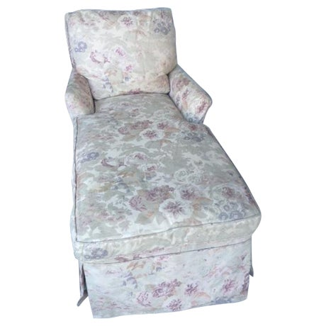 Vintage 1930s Floral Chaise - Image 1 of 7
