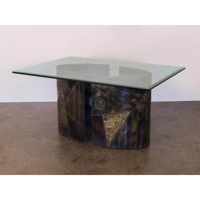 Abstract Paul Evans Pe-24 Pedestal Table for Directional For Sale - Image 3 of 12
