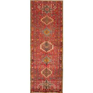 "Mid-20th Century Vintage Persian Heriz Rug, 3'7"" X 10'5"" For Sale"