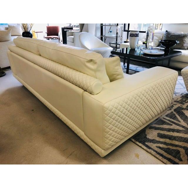 2010s 21st Century C&b Italia Gurian White Leather Italian Sofa For Sale - Image 5 of 13