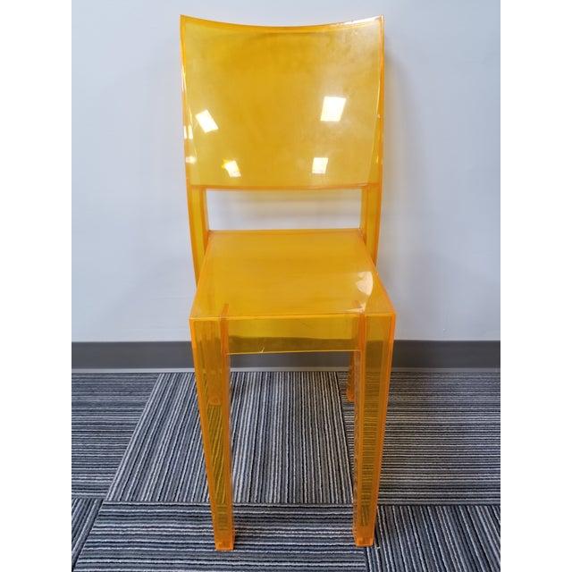 "1990s 1990s Kartell ""La Marie"" Orange Side Chair For Sale - Image 5 of 5"