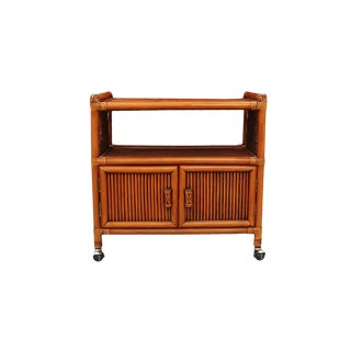 Rolling Bamboo Bar Cart For Sale