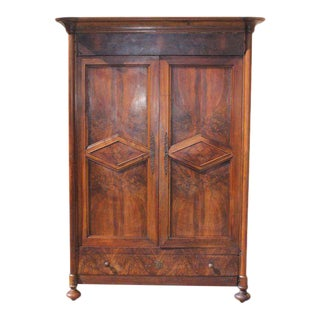 19th Century French Louis Philippe Walnut Period Chateau Armoires circa 1850s