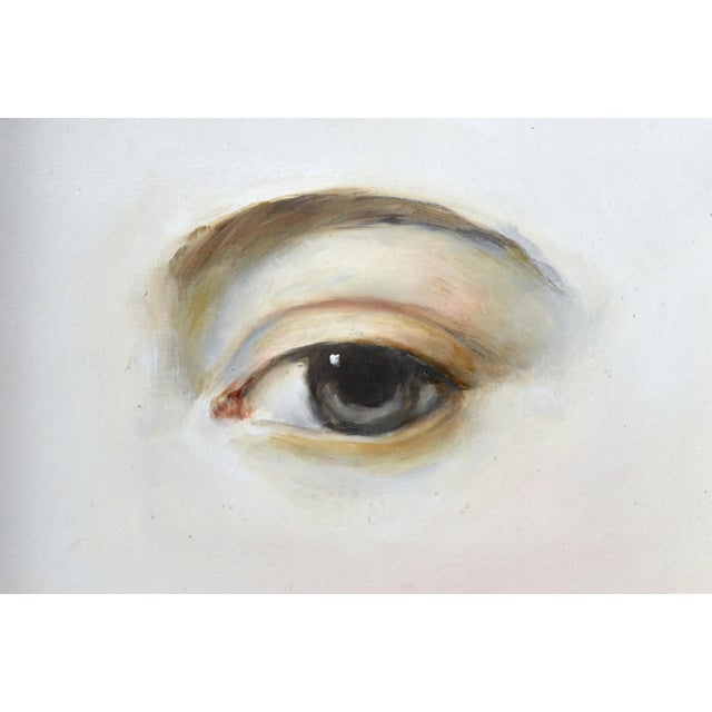 Contemporary Contemporary Lover's Eye Painting by Susannah Carson in a Victorian Marbled Frame For Sale - Image 3 of 7