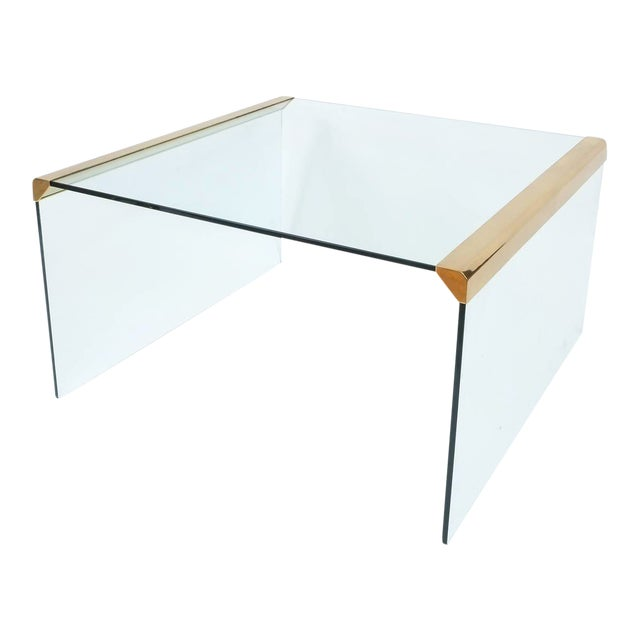 Italian Clear Glass Coffee Table by Pierangelo Galotti for Galotti & Radice,1970 For Sale