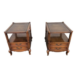 Vintage Queen Anne Weiman Nightstands - a Pair For Sale