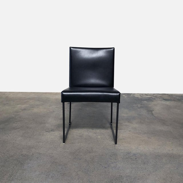 Amazing Modern Black Leather Solo Dining Chair Squirreltailoven Fun Painted Chair Ideas Images Squirreltailovenorg