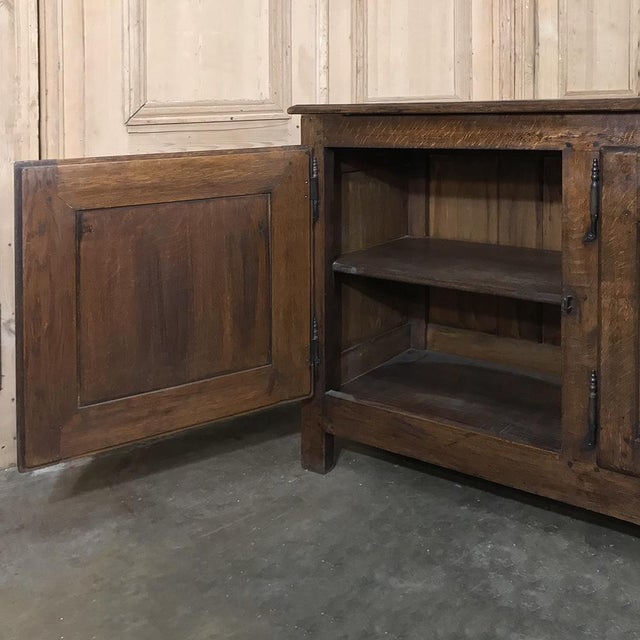 Metal 18th Century Country French Provincial Low Buffet For Sale - Image 7 of 13