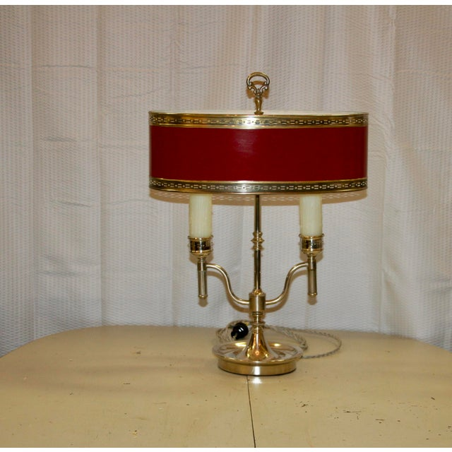 English Style Silver Bouillotte Lamp For Sale In Raleigh - Image 6 of 6